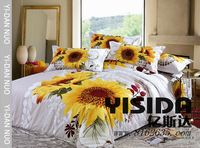 Source 100% Cotton Sunflower Printed Bedding Set on m.alibaba.com #sunflowerbedroomideas