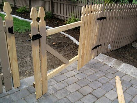 Removable Fence Section Amp Custom Gate For Yard Access Y