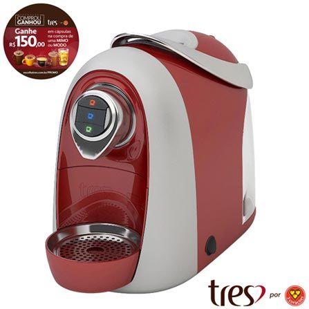 (Fast Shop.com.br) Cafeteira Três Corações Modo S04 Vermelha Para Café Espresso - 20038905 - de R$ 798.98 por R$ 422.09 (48% de desconto)