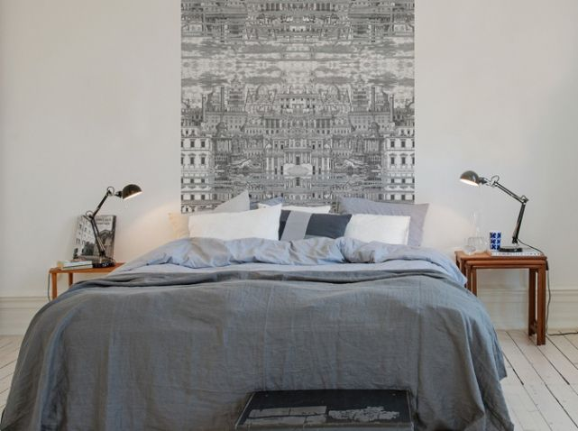 d corez le mur au dessus de votre lit bedrooms pinterest. Black Bedroom Furniture Sets. Home Design Ideas