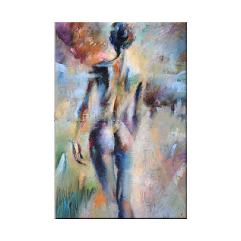 Hand painted modern art painting color nude oil painting on canvas Living room Fine Art naked woman home decoration picture