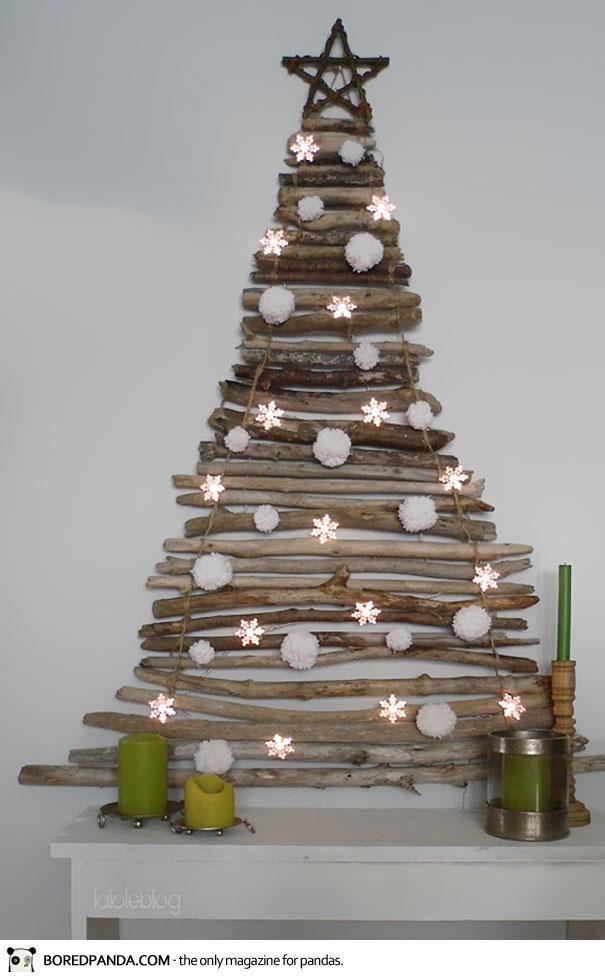 Arbol navidad decoraci n navide a pared diy navidad con - Arboles de navidad manualidades navidenas ...