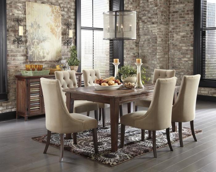 impressionnant chaise capitonnée salle a manger | Décoration ...