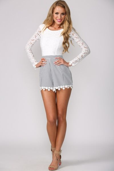 de21862d31163 Love this playsuit from Hello Molly...  65 Gingham and Lace Playsuit
