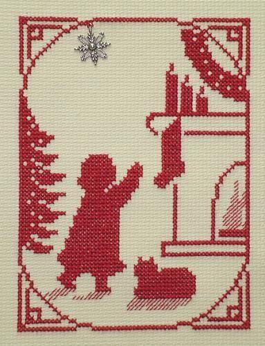 Hanging the Stocking Girl | The Black Cat Stitchery