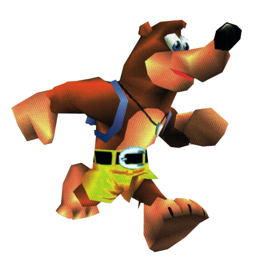 From Raretld S Banjo Kazooie Manual The Bear Himself Showing Some Moves The Video Game Art Archive Support Us On Patreon Banjo Kazooie Banjo Game Art