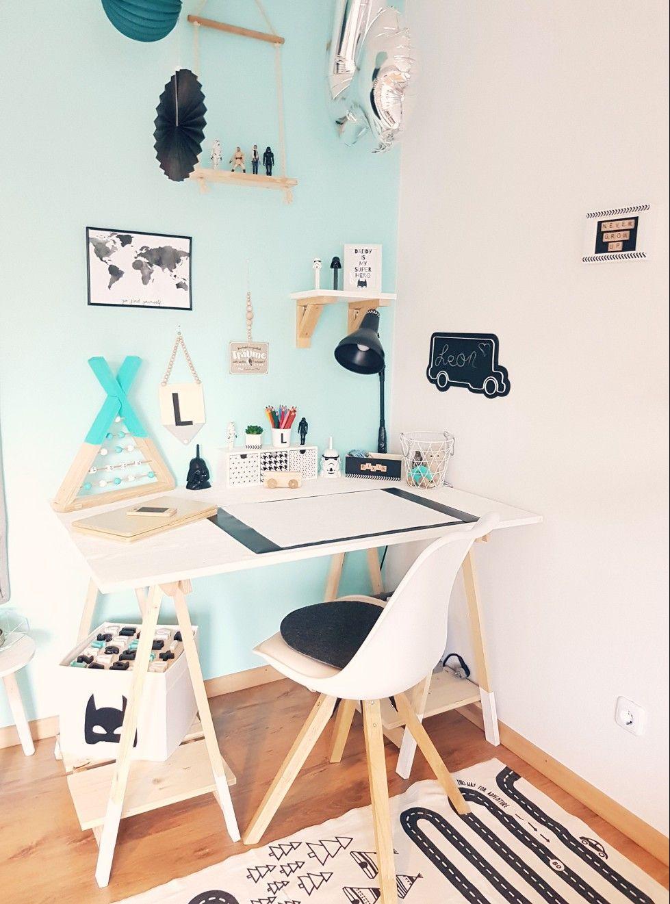 Außergewöhnlich Schreibtisch Diy Ideen Von #diy Aus Holzböcken Kinderzimmer#
