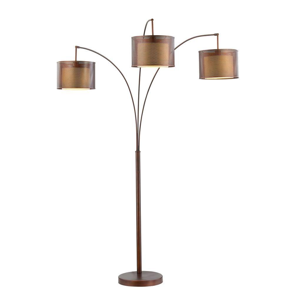 Artiva Lumiere Ii 83 In Led Antique Bronze Floor Lamp With