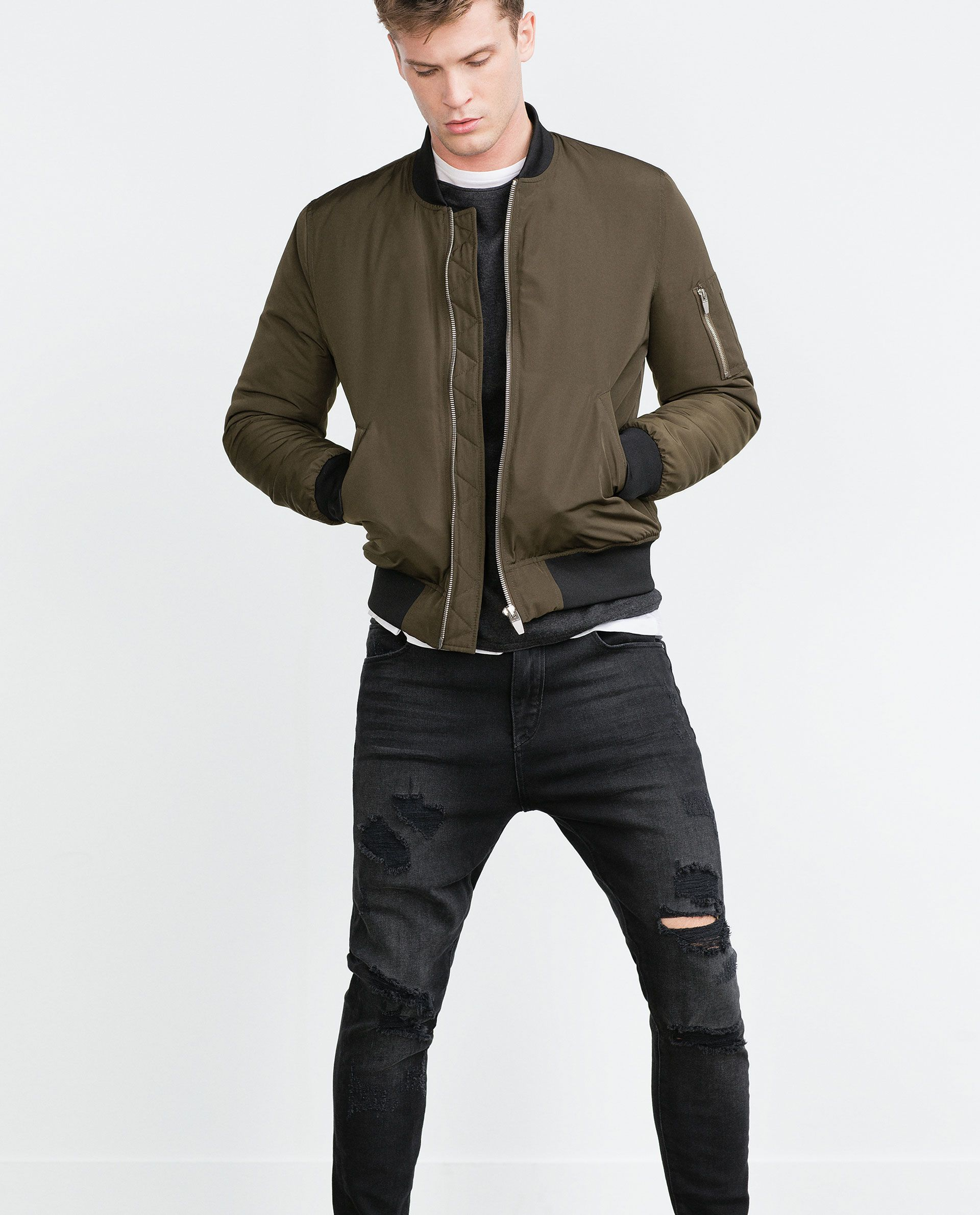 099aa45a6 BOMBER JACKET from Zara | M | Bomber jacket men, Bomber jacket ...
