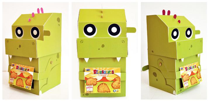 Packaging Dinosaurus Cookies - http://www.behance.net/patlazdia