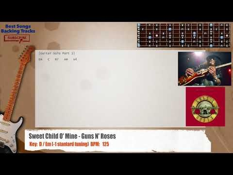 Sweet Child O Mine Guns N Roses Guitar Backing Track With Chords