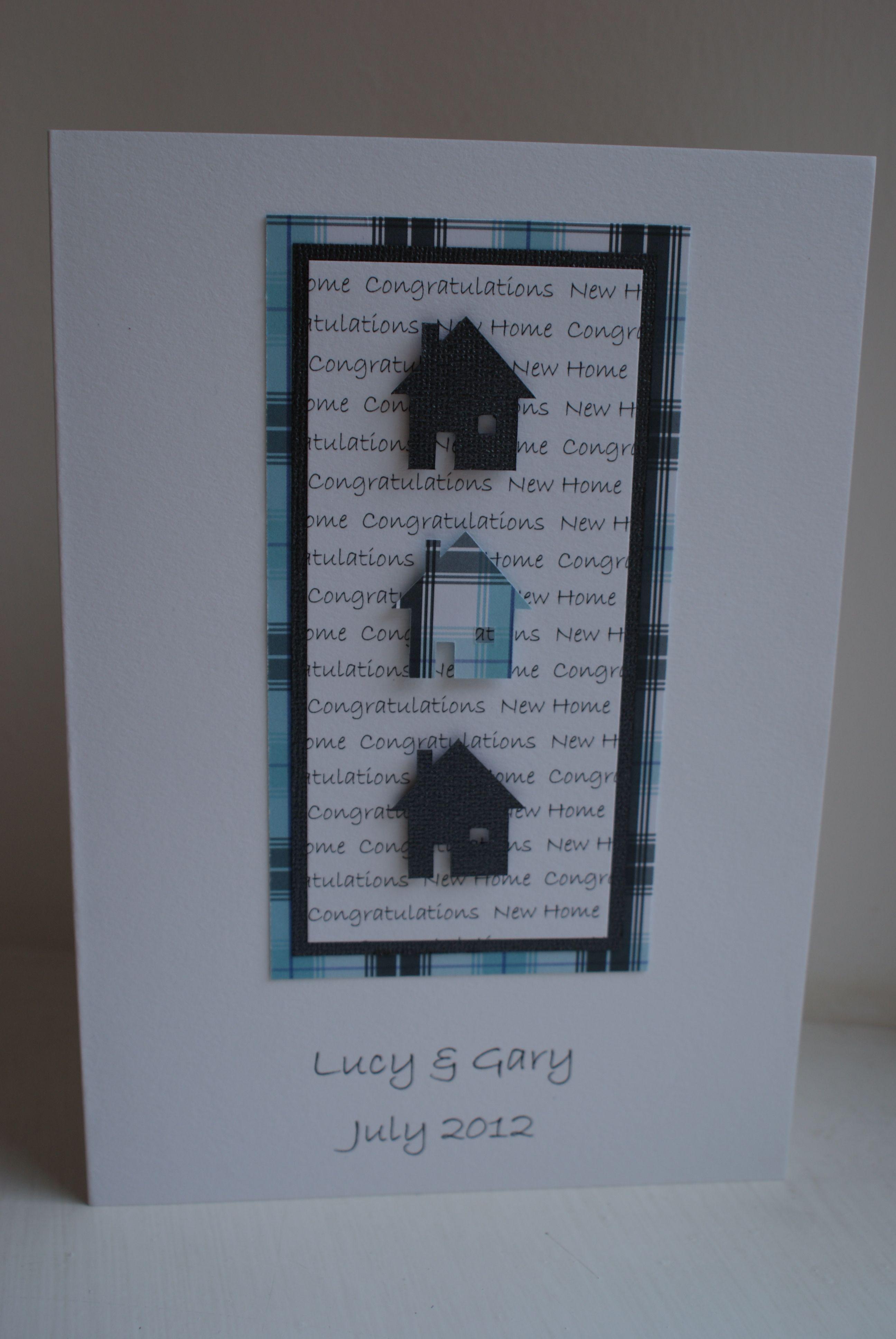 New home handmade personalised card