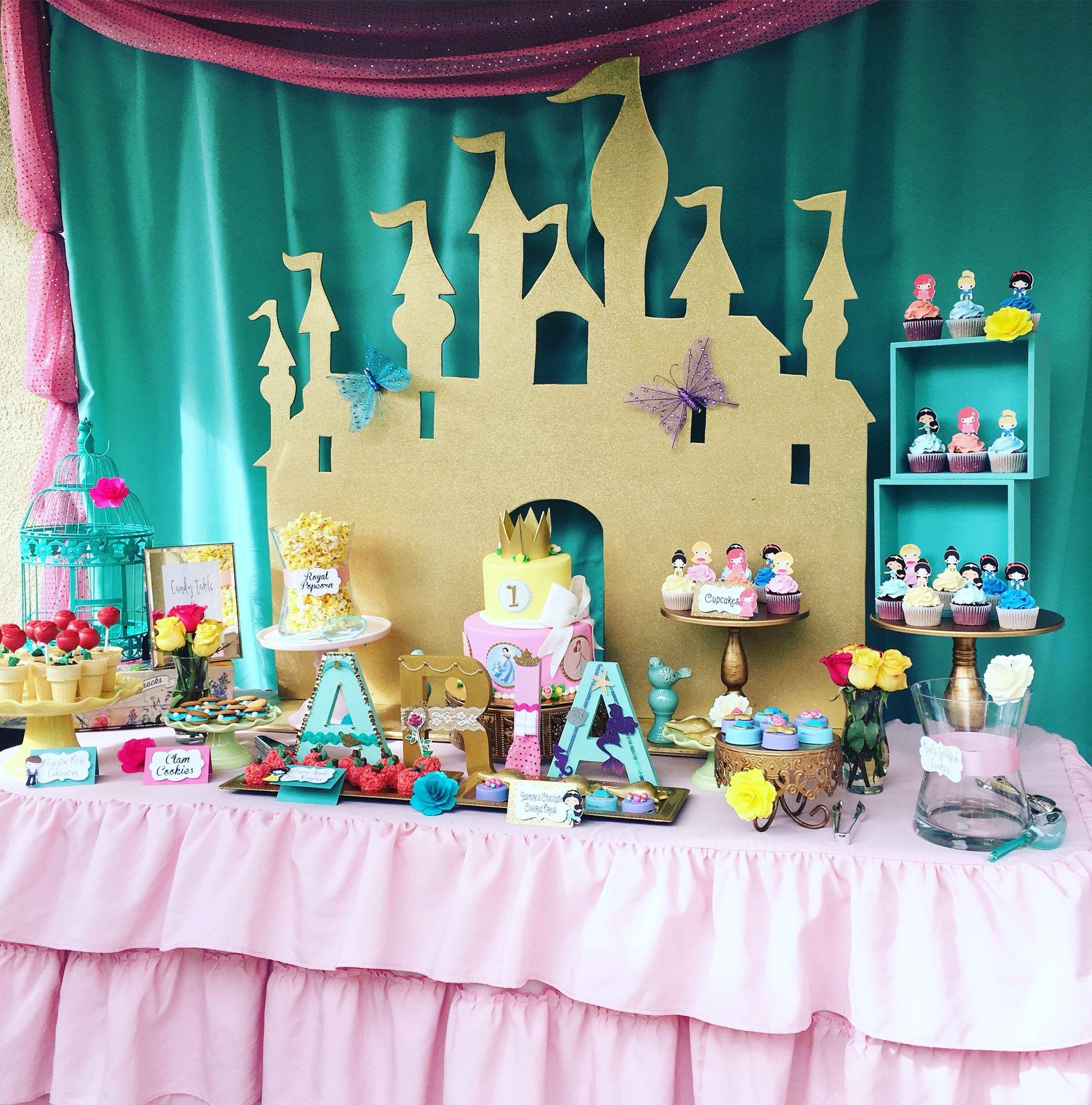 Cake Table Decorating Ideas Best Of Disney Princess Inspired Dessert Table Princess Birthday Party Decorations Princess Theme Party Princess Party Decorations