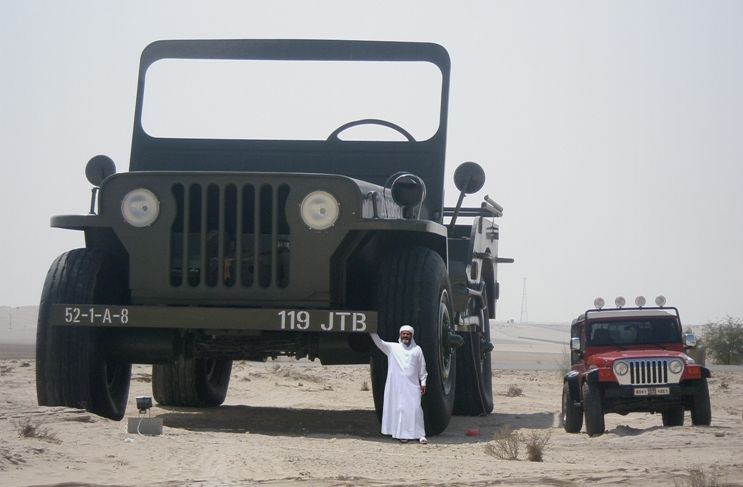 The Giant Trucks Of The Eccentric Rainbow Sheikh Willys Jeep