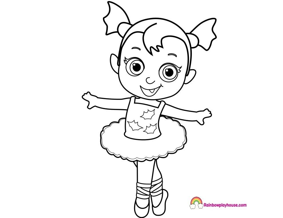 Vampirina Para Colorear With Images Ballerina Coloring Pages