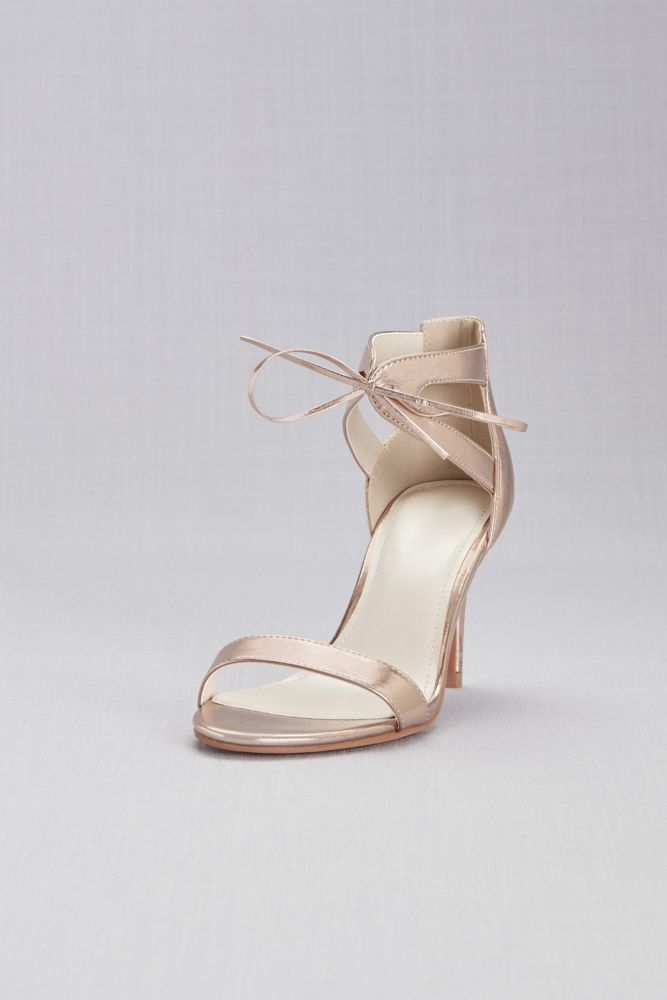 Patent High Heel Sandals with Ankle Strap Style LARISSA