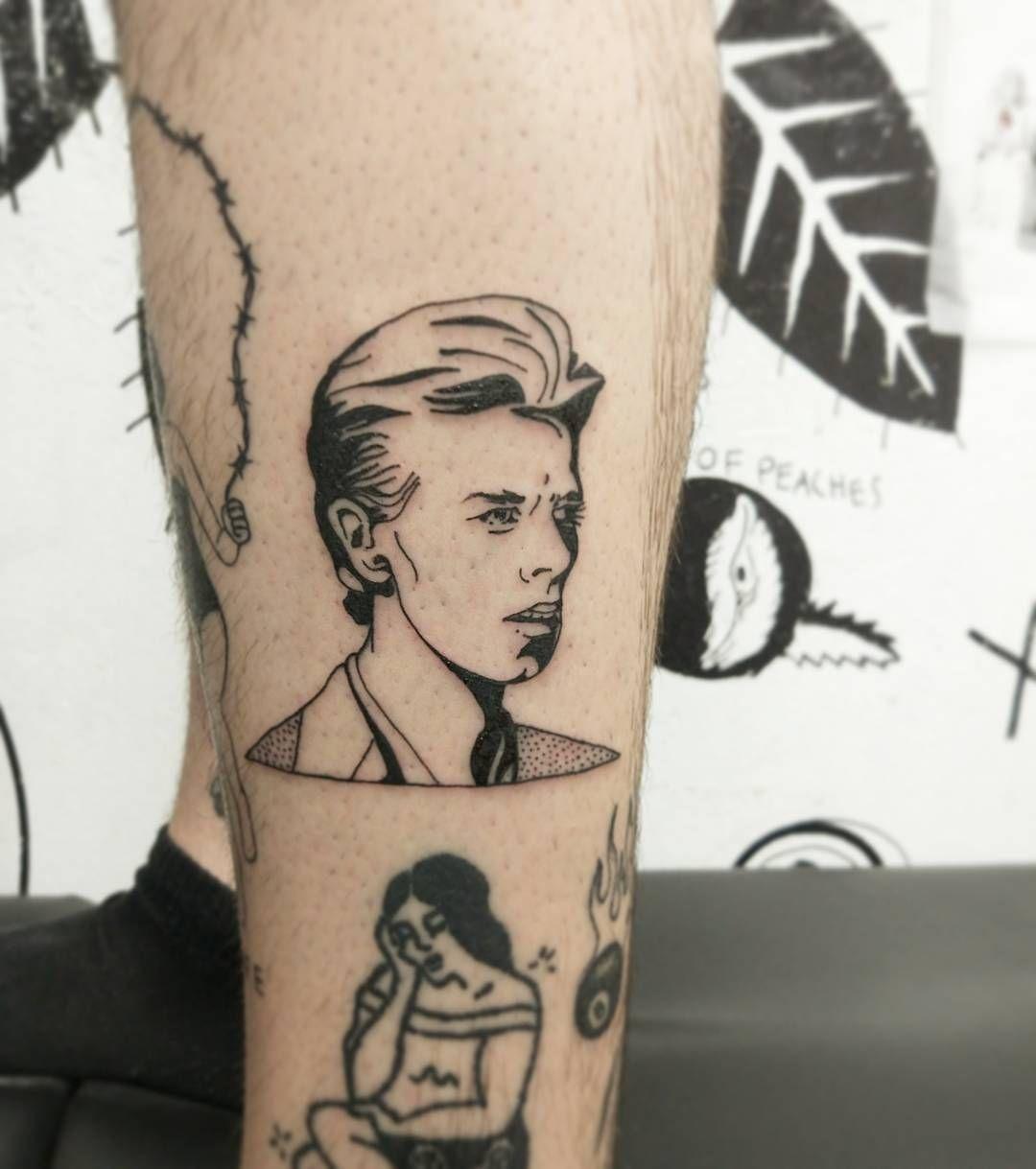 Dangelo At Rat666tat Skin Bowie Tattoo David Bowie