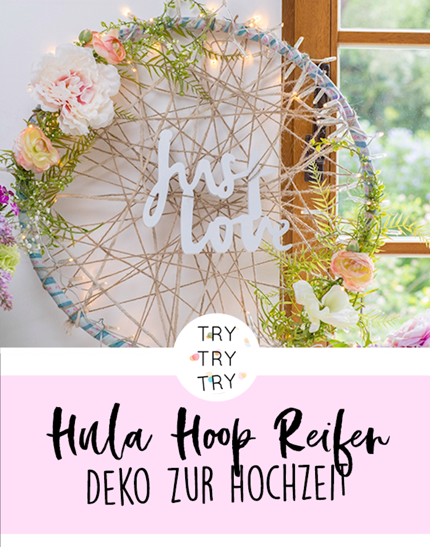 Photo of Hula hoops as a brilliant idea for wedding decorations