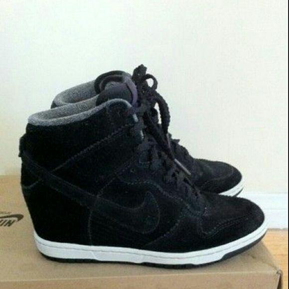 Nike dunk sky hi BLACK SUEDE Brand new NEVER WORN Nike Shoes  968cf65777