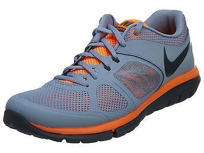 89253ac3aa9e Nike Flex 2014 Rn Msl Mens 642800-405 Grey Orange Athletic Running Shoes Sz  10.5