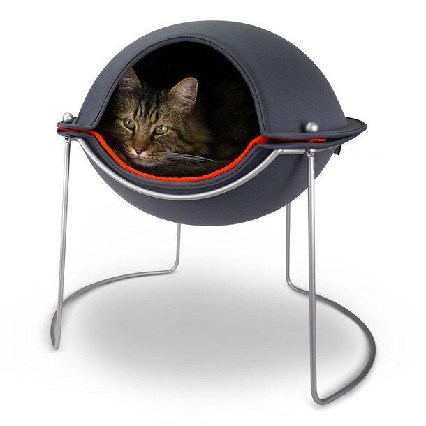 Hepper Cat Pod Bed Mod Home For Your Pampered Feline Friend Productdesign Cat Pod Cat Bed Modern Cat Bed