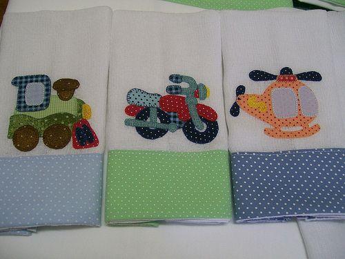 Babinhas bebe toallas y apliques for Apliques para toallas