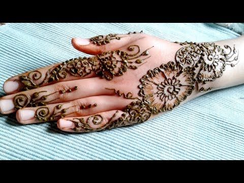 تعليم النقش بالحناء للمبتدئين مع موديل صيفي سهل و بسيط Youtube Beginner Henna Designs Learn Henna Design Learn Henna