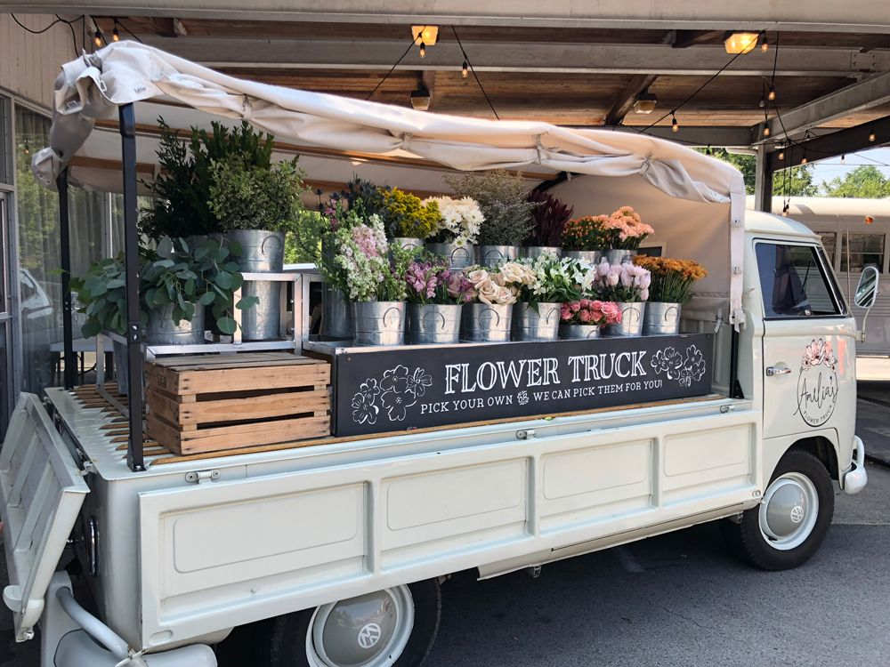 Keep an eye out for Nashville's mobile flower shop, Amelia's Flower Truck.