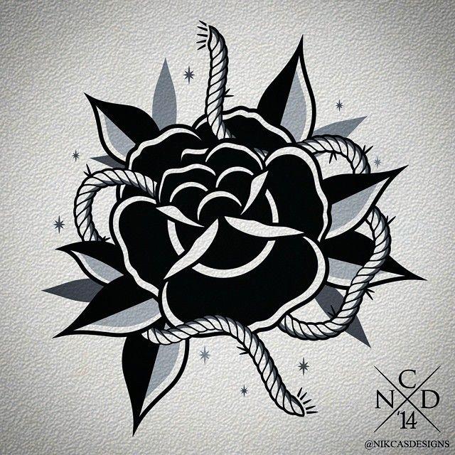 Nikcasdesigns Ideias De Tatuagens Rosa Old School