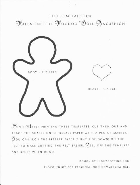 One Crafty Stitch: Felt Voodoo Doll Pincushion | Crafts | Pinterest