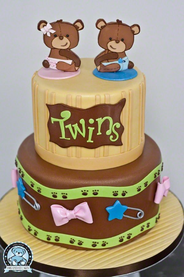 Lovely Baby Shower Cake Twins Part - 11: Baby Shower Cakes For Twins
