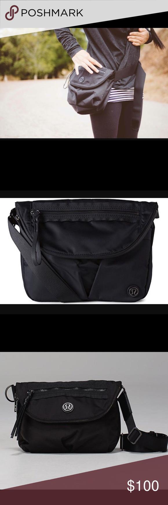 53d7cca69b4a Black lululemon festival bag Great small bag. Barely used lululemon  athletica Bags Crossbody Bags