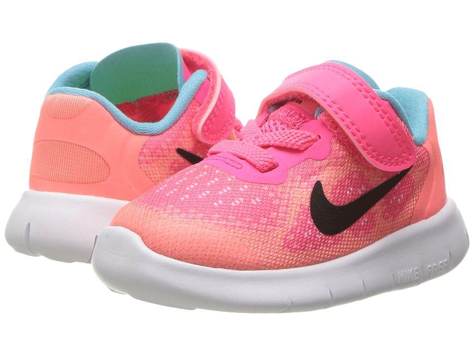 ef239642f33cc Nike Kids Free RN 2017 (Infant Toddler) Girls Shoes Racer Pink Black Lava  Glow Pure Platinum