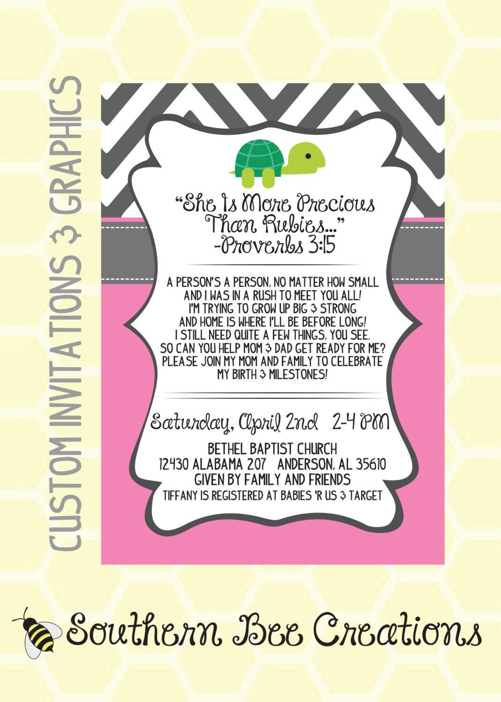 Preemie Baby Shower Invitation Digital File Printable Preemie Baby Shower Baby Shower Invitation Wording Baby Shower Invitations Etsy