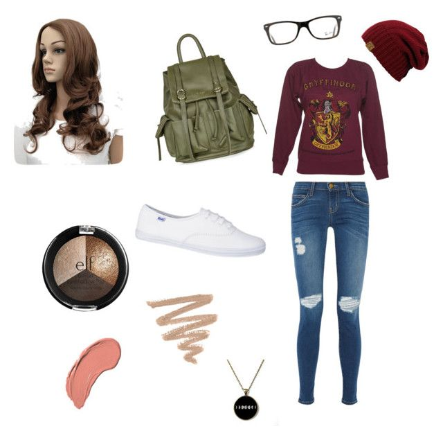 """""""Adventurous Wizard!"""" by hufflepuff-fashion ❤ liked on Polyvore featuring Current/Elliott, Topshop, NYX and Ray-Ban"""
