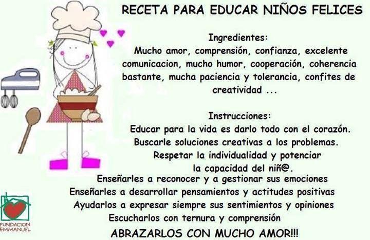 Receta Para Educar Niños Felices Niños Felices Educacion