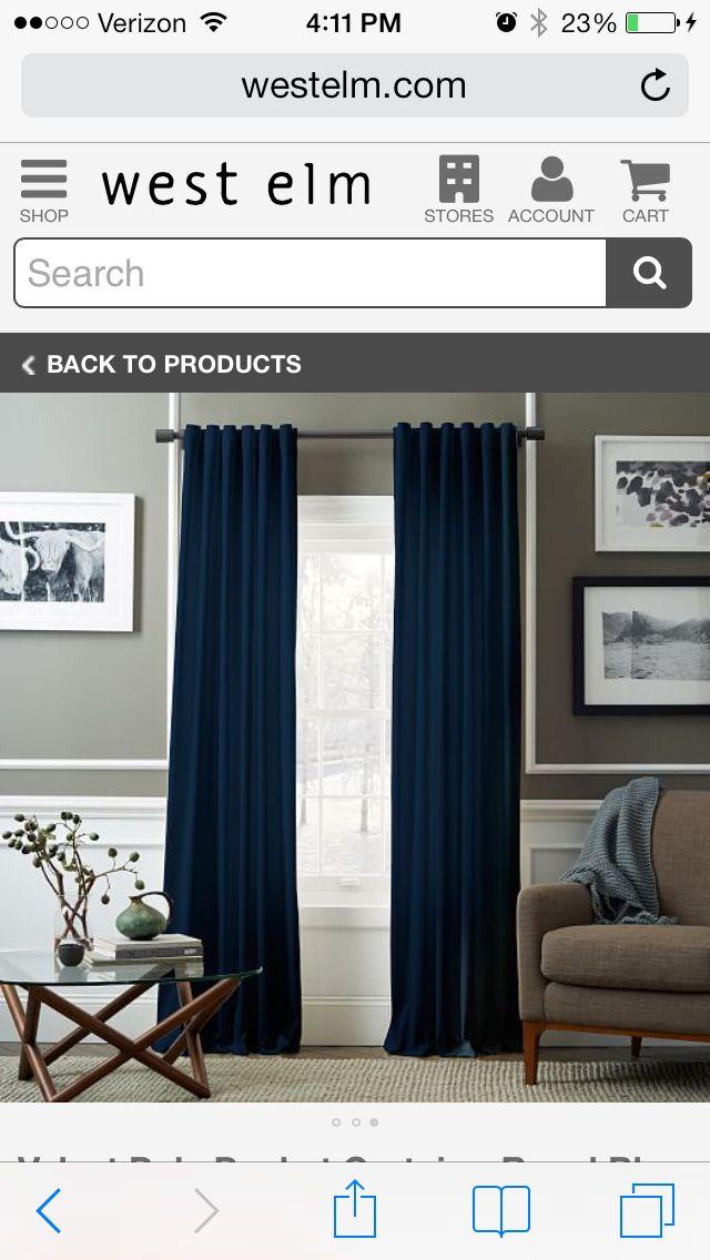 Best West Elm Curtains Blue Curtains Living Room Curtains 400 x 300