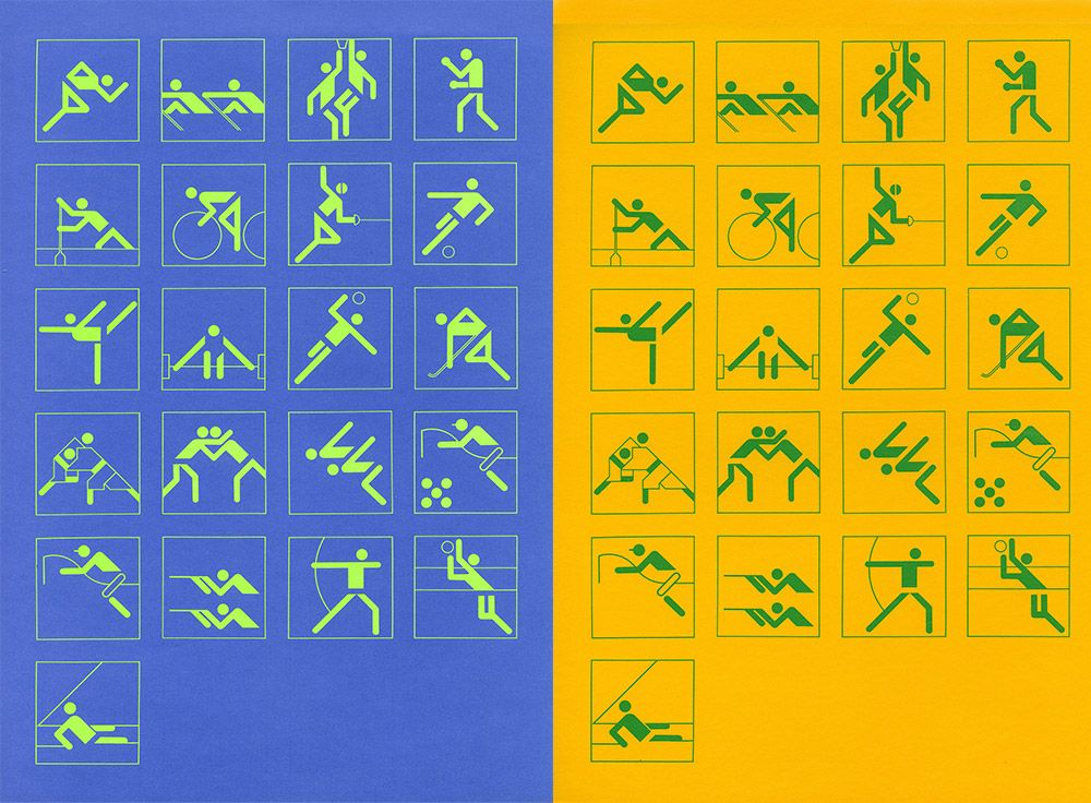 otl aicher pictogrammes des jeux olympiques de munich 1972 so youz graphique pinterest. Black Bedroom Furniture Sets. Home Design Ideas