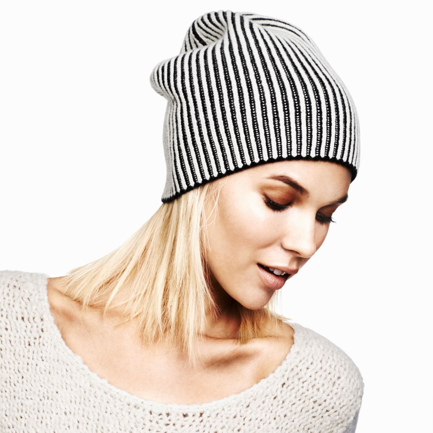 254127136a016 Colleen Striped Cashmere Hat