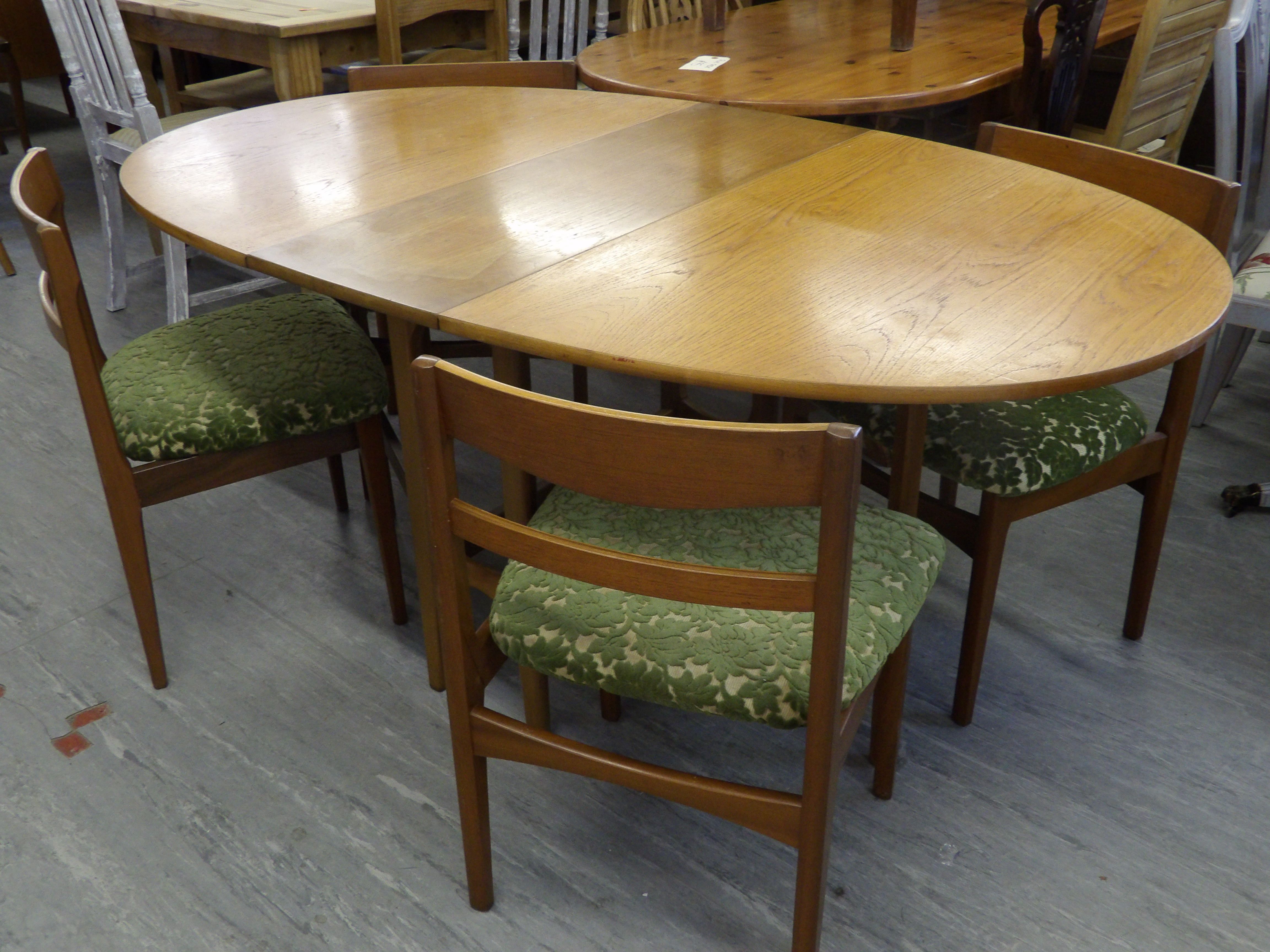 Drop Leaf Table & 4 Chairs Re-upholstered In A Fabric Of Your Choice £75