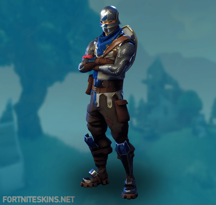 blue squire outfit in fortnite battle royale - red knight fortnite gif