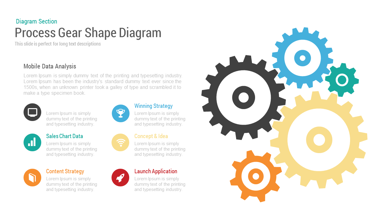 e8f143336ad71599ee6683bed0b25528 process gear shape diagram powerpoint and keynote template