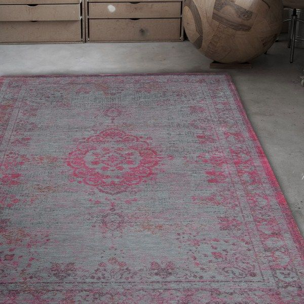 Louis De Poortere Fading World Rugs 8261 Pink Flash Buy Online From The Rug Seller Uk Rugs On Carpet Rugs Luxury Rug