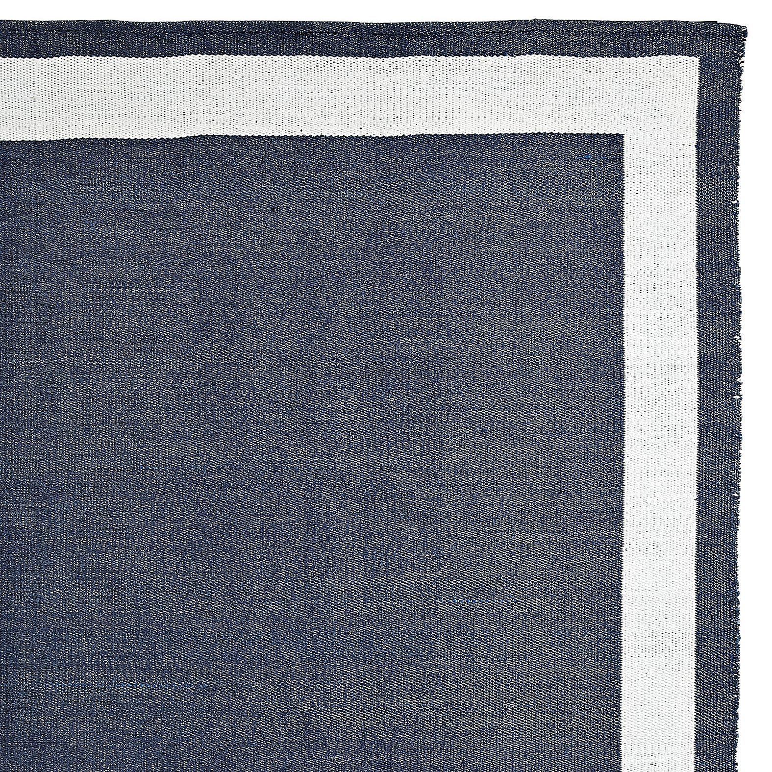Outdoor border rug navywhite serena lily navy rug