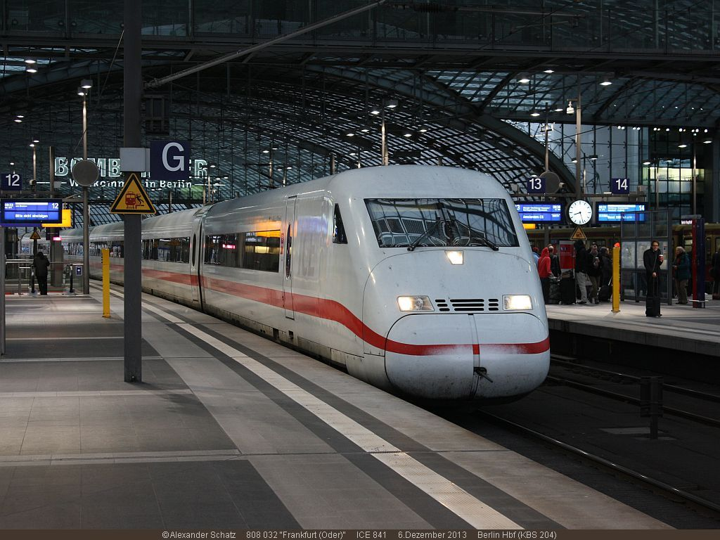 ICE at Berlin Haufbahnhopf