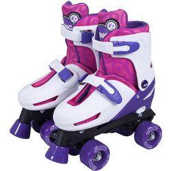 CHILDRENS GIRLS BOYS KIDS RETRACTABLE WHEEL ROLLER SKATING WHEELIE TRAINERS 13-3