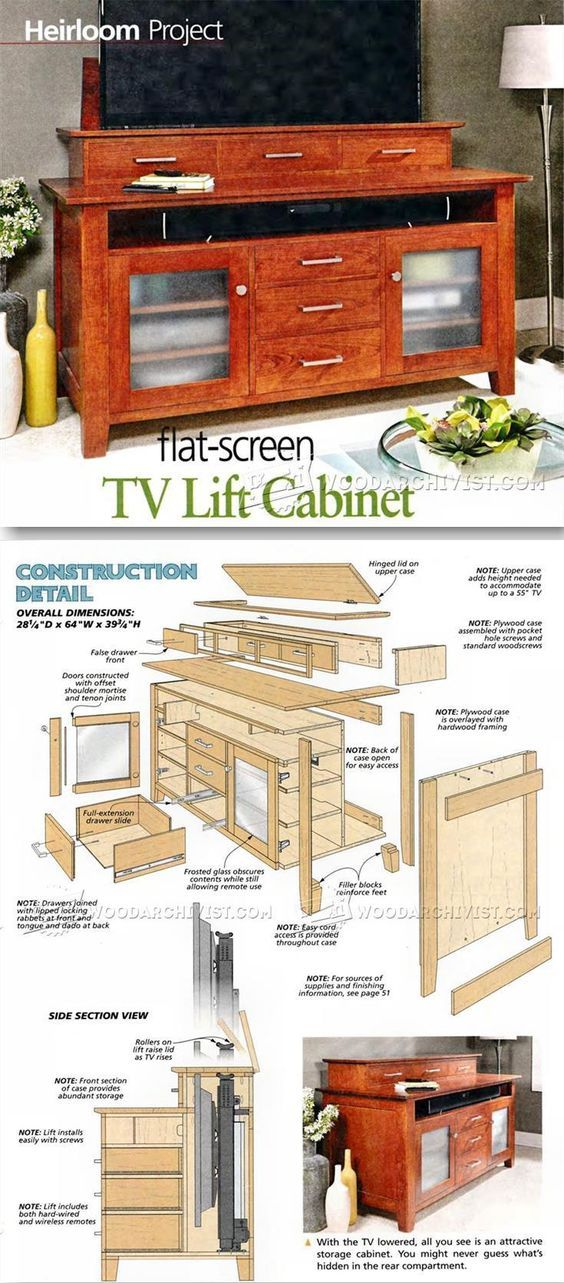 TV Lift Cabinet Plans Furniture Plans And Projects WoodArchivist Cool Back Home Furniture Style Plans