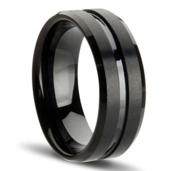 Gunmetal black tungsten ring. For my man. #MaggieSottero #LoveMyStory #ShowYourCoast #CoastDiamond