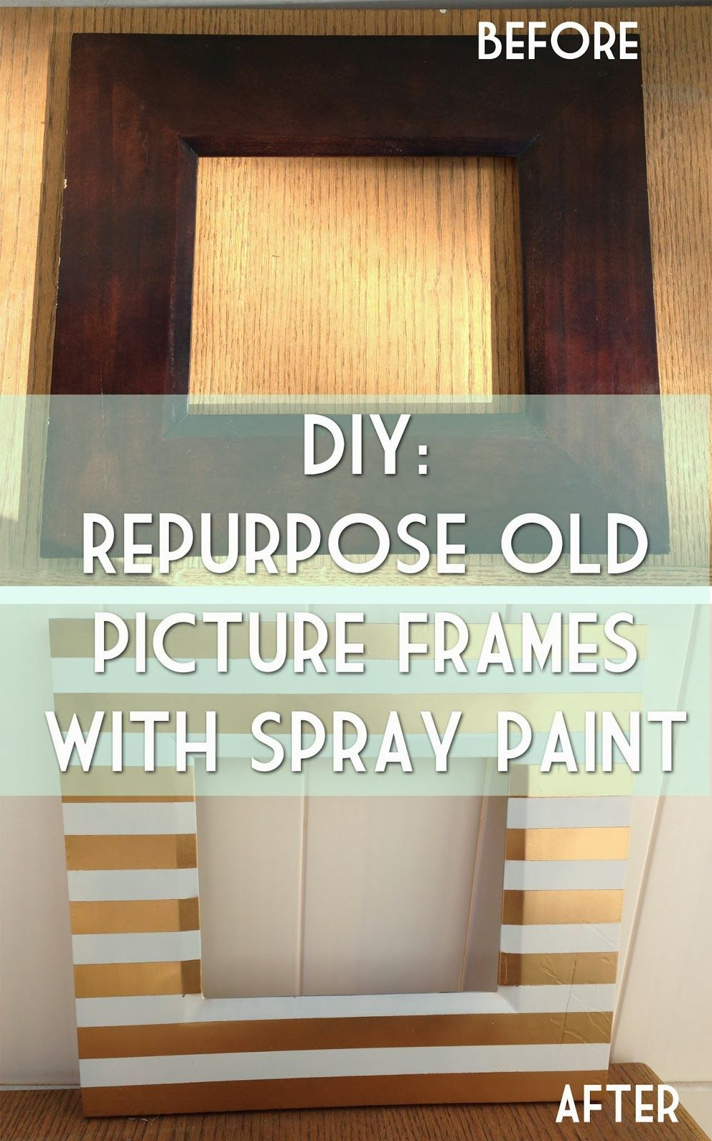 Diy Repurpose Old Picture Frames With Spray Paint Sorority Crafts