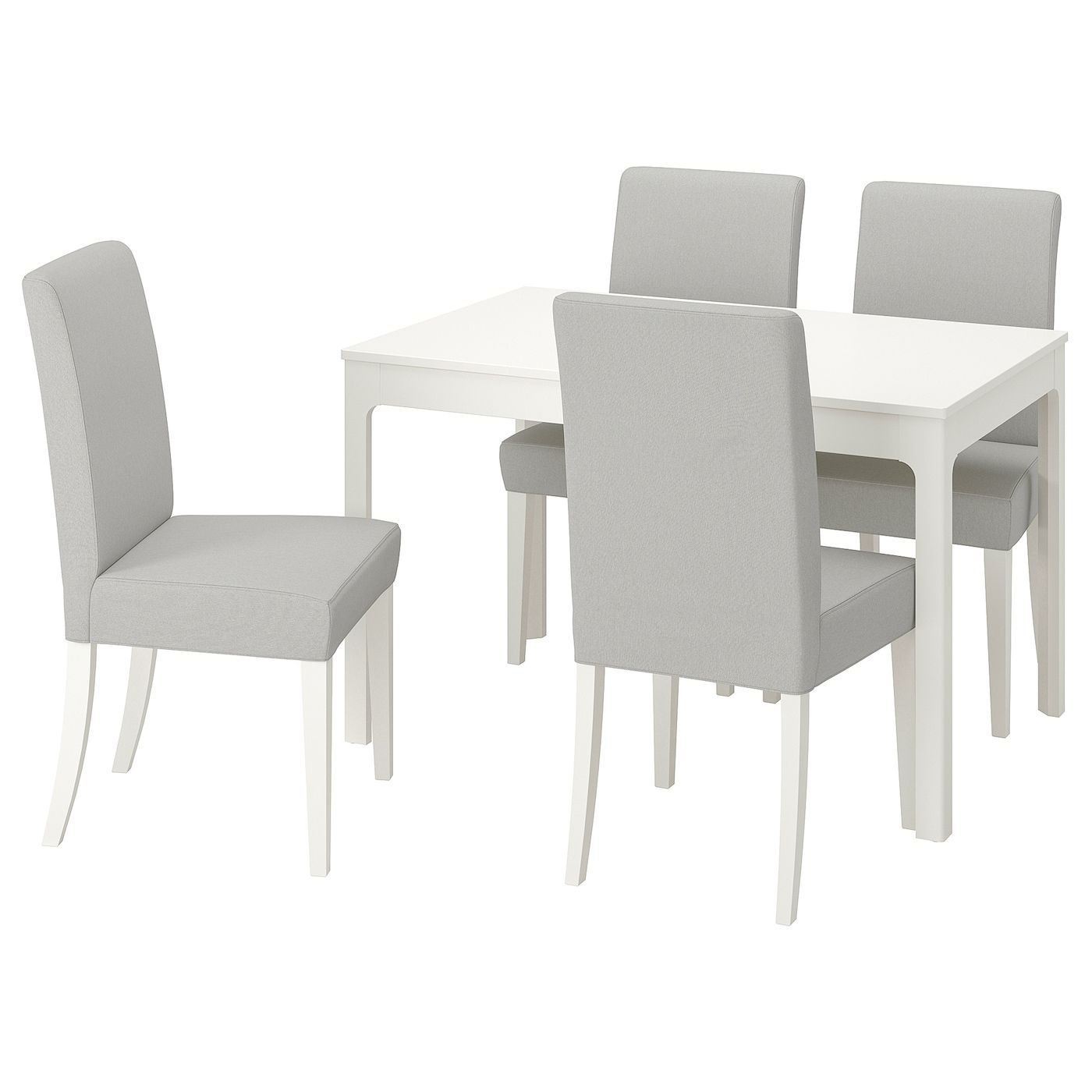 Ekedalen Henriksdal Table And 4 Chairs White Orrsta Light